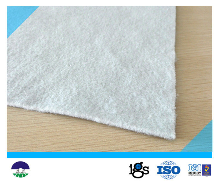 431g Staple Fiber Geotextile Drainage Fabric White