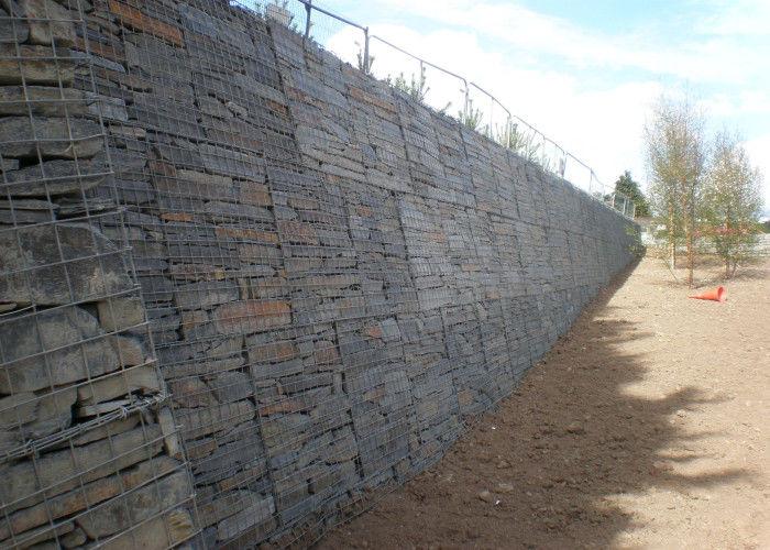 Mur de sout nement enduit de gabion de fil de pvc flexible for Mur de soutenement en gabion