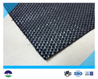 China Black Woven Geotextile for Reinforcement Fabric 87KN / 60KN 390G distributor